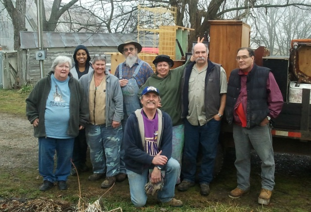 L to R; Marideth Sisco, Adrianna, Pat Hight, Van Colbert, Tom Arth, Sarah Denton, Henry Blevins (Sarah's brother who brought his trailer all the way from Arkansas), Barry. Thanks Ya'all!