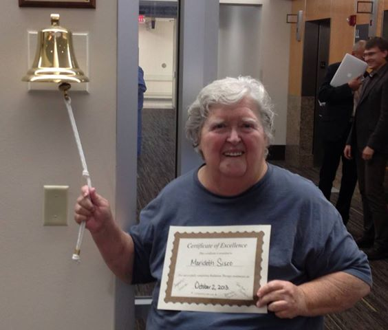 "Ringing the bell signifying ""I am done and well""! Not to be confused with well done."